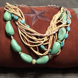 Chico's multi strand, turquoise necklace